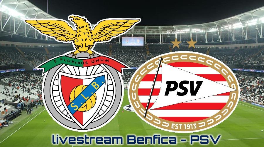 Benfica - PSV kijken via een Champions League live stream