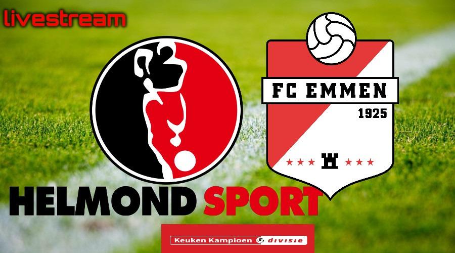 Kijk hier Helmond Sport - FC Emmen via een live stream